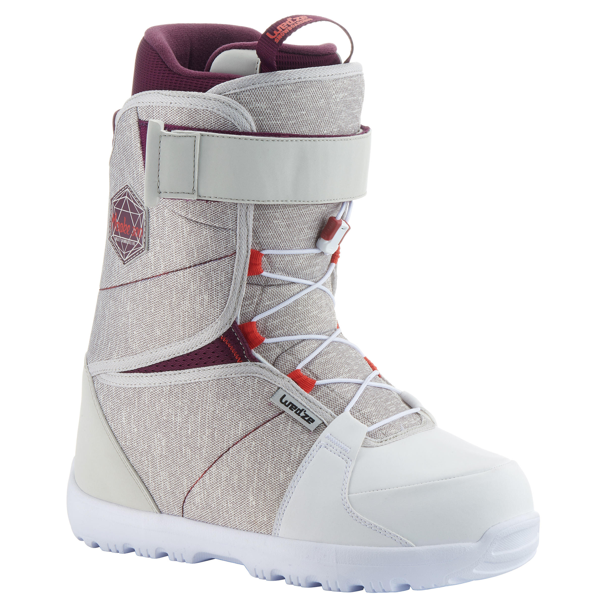 Wed'ze Snowboard boots all mountain dames Maoke 300 - Fast Lock 2Z wit thumbnail