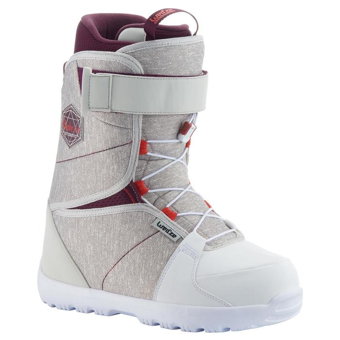Chaussures de snowboard, all mountain, femme, Maoke 300 - Fast Lock 2Z, blanches - 1178779