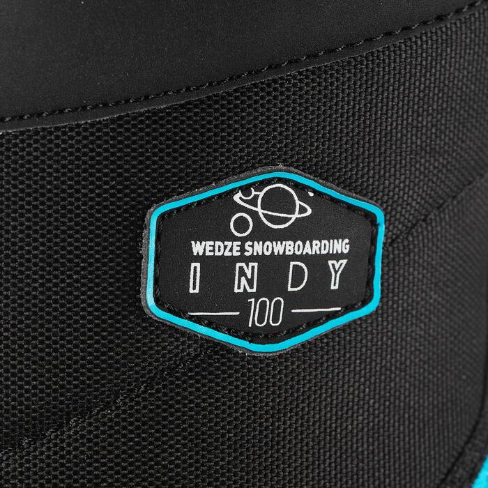 Snowboard schoenen kinderen all mountain / freestyle Indy 100 zwart / blauw