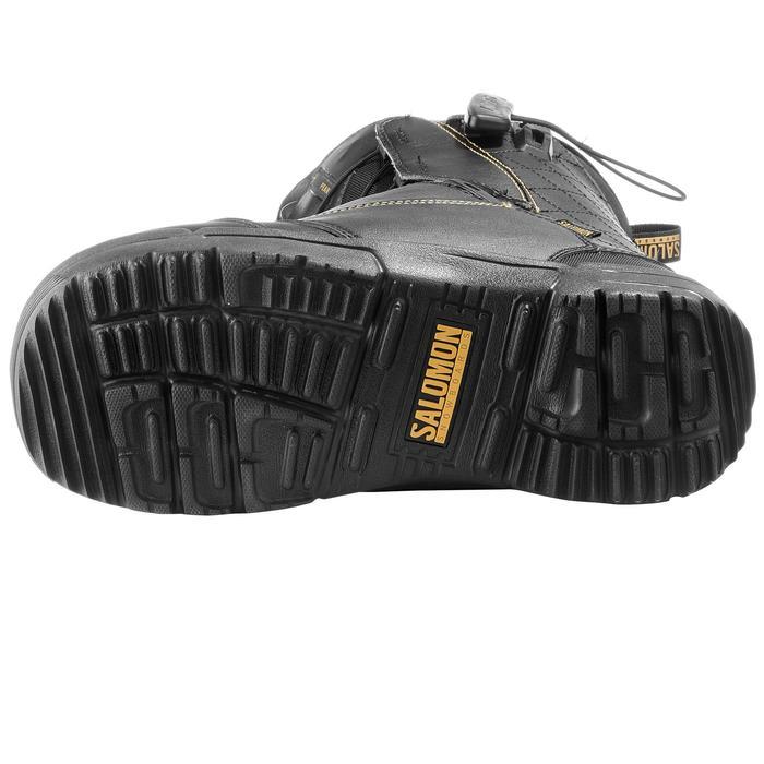 Chaussures de snowboard all mountain, femme, Pearl zone lock, noire - 1178786