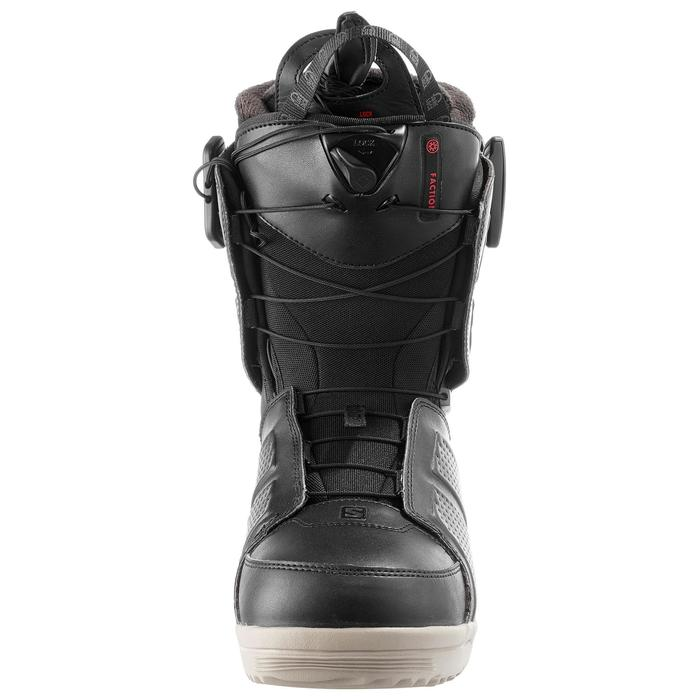 Chaussures de snowboard all mountain, homme, Faction zone lock, noire - 1178790