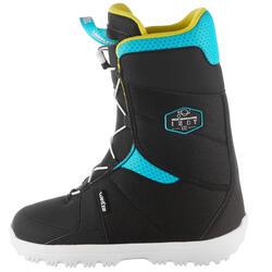 兒童全山地/花式滑雪單板滑雪靴Indy 100 - 黑色藍色