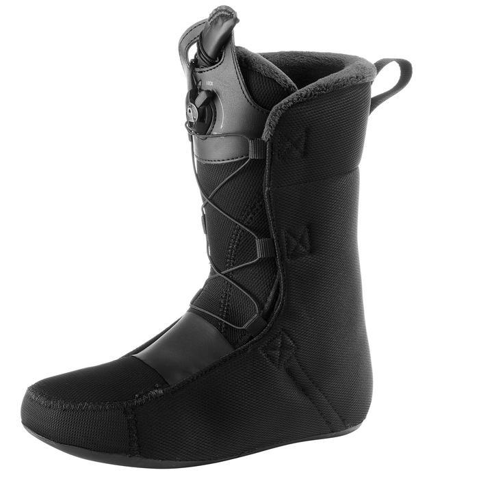Chaussures de snowboard all mountain, femme, Pearl zone lock, noire - 1178795