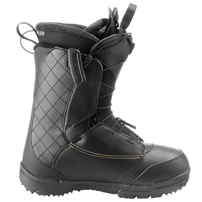 Chaussures de snowboard all mountain, femme, Pearl zone lock, noire - 1178798