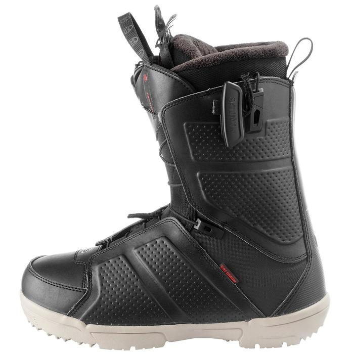 Chaussures de snowboard all mountain, homme, Faction zone lock, noire - 1178800