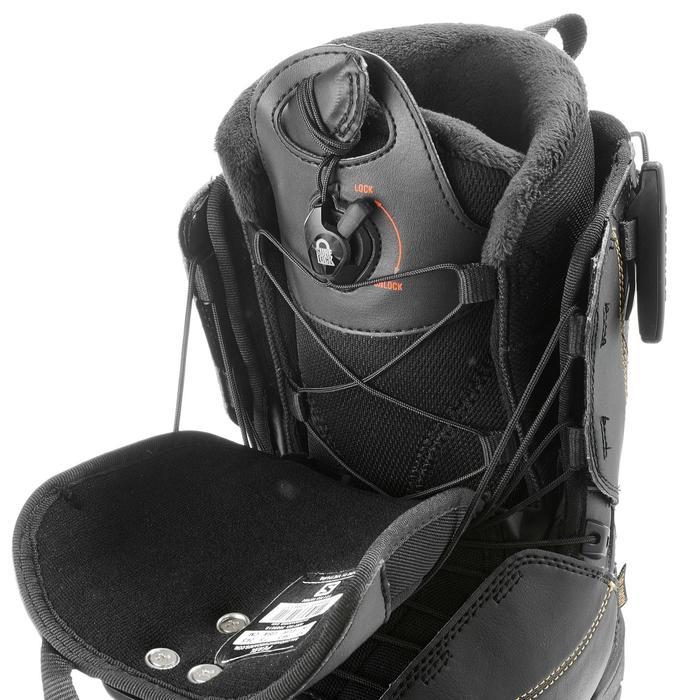 Chaussures de snowboard all mountain, femme, Pearl zone lock, noire - 1178801