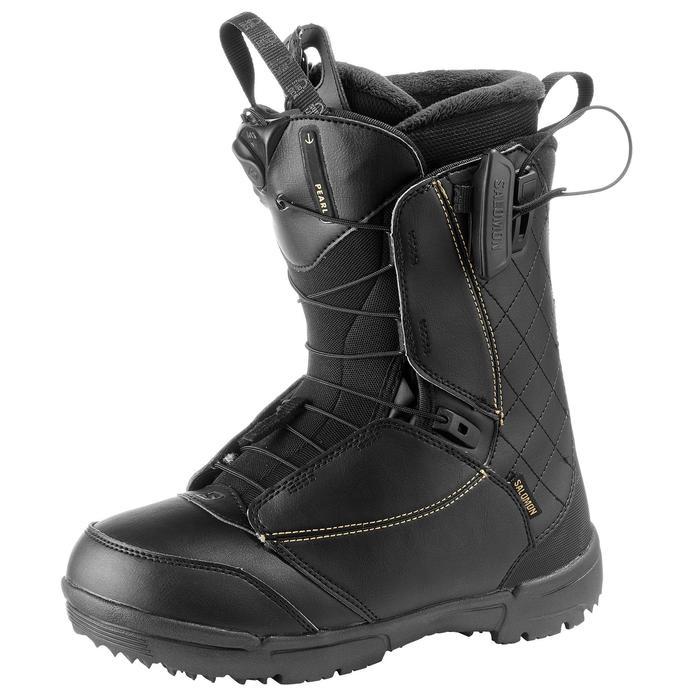 Chaussures de snowboard all mountain, femme, Pearl zone lock, noire - 1178803