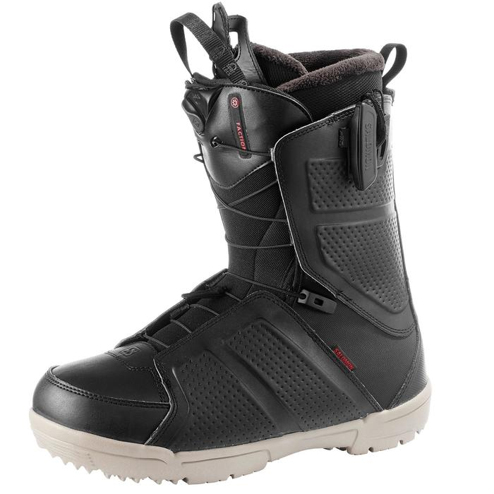 Chaussures de snowboard all mountain, homme, Faction zone lock, noire - 1178804