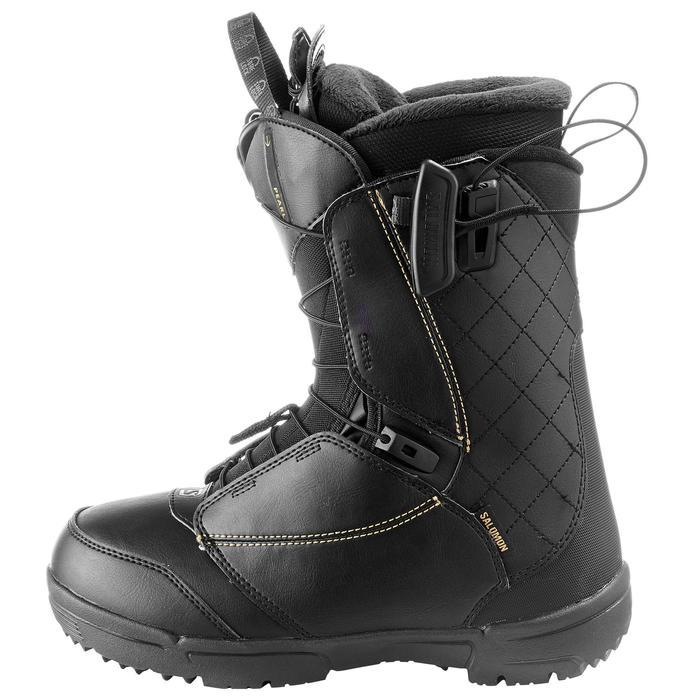 Chaussures de snowboard all mountain, femme, Pearl zone lock, noire - 1178806