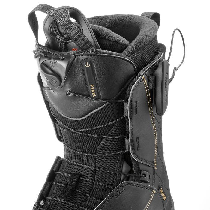 Chaussures de snowboard all mountain, femme, Pearl zone lock, noire - 1178808