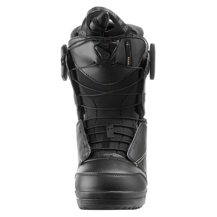 Chaussures de snowboard all mountain, femme, Pearl zone lock, noire - 1178815