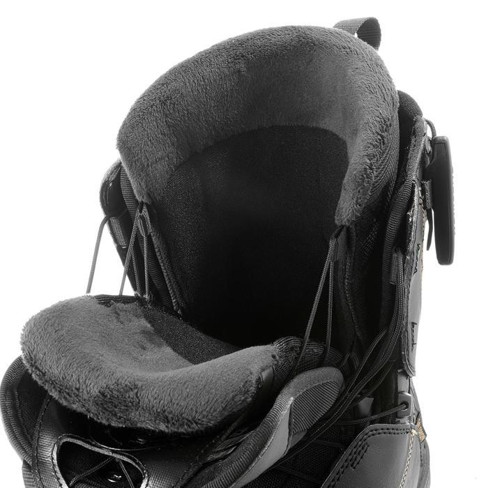 Chaussures de snowboard all mountain, femme, Pearl zone lock, noire - 1178821