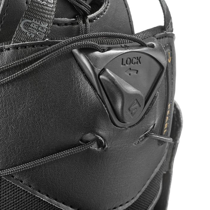 Chaussures de snowboard all mountain, femme, Pearl zone lock, noire - 1178828