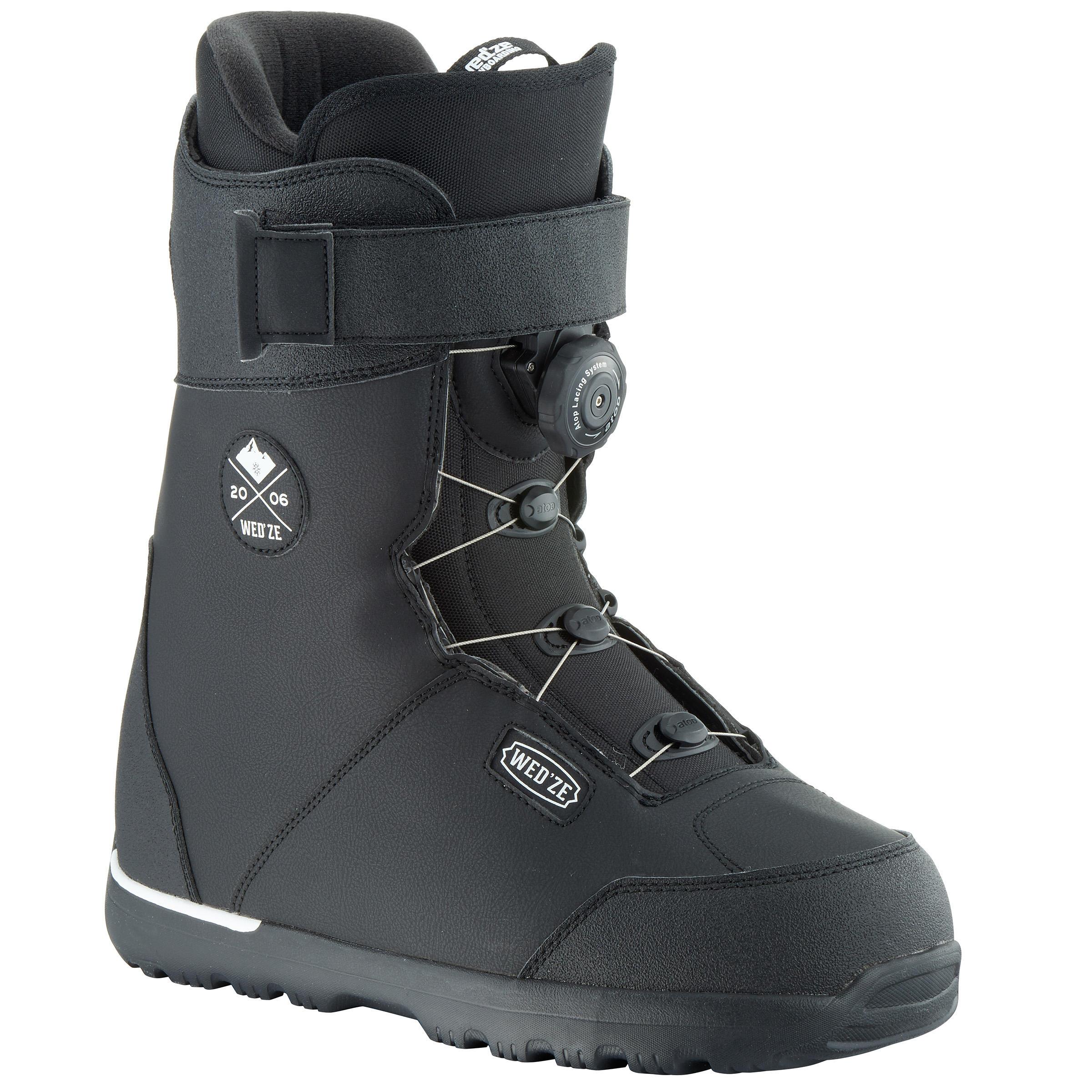 Wed'ze Snowboard boots all mountain heren Foraker 500 - Cable Lock 2Z zwart thumbnail