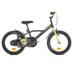 500 Kids' 16-Inch Bike (4.5-6 Years) - Dark Hero