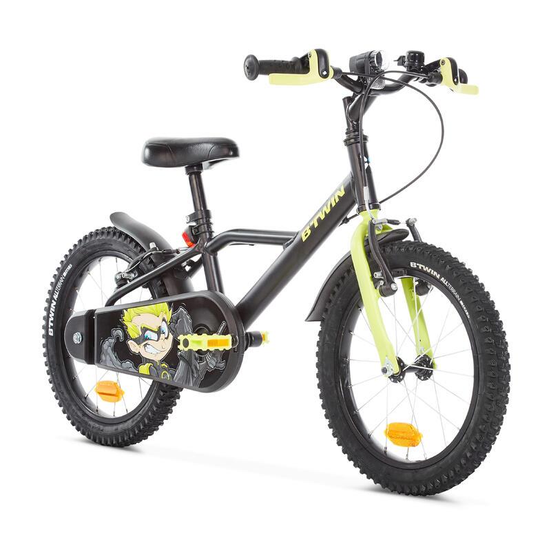500 Kids' 16-Inch Bike (4.5-6 Years) - Dark Hero
