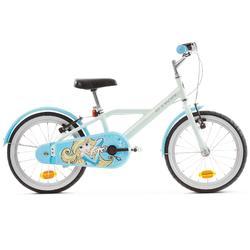 500 16-Inch Bike 4-6 Years - Blue Princess
