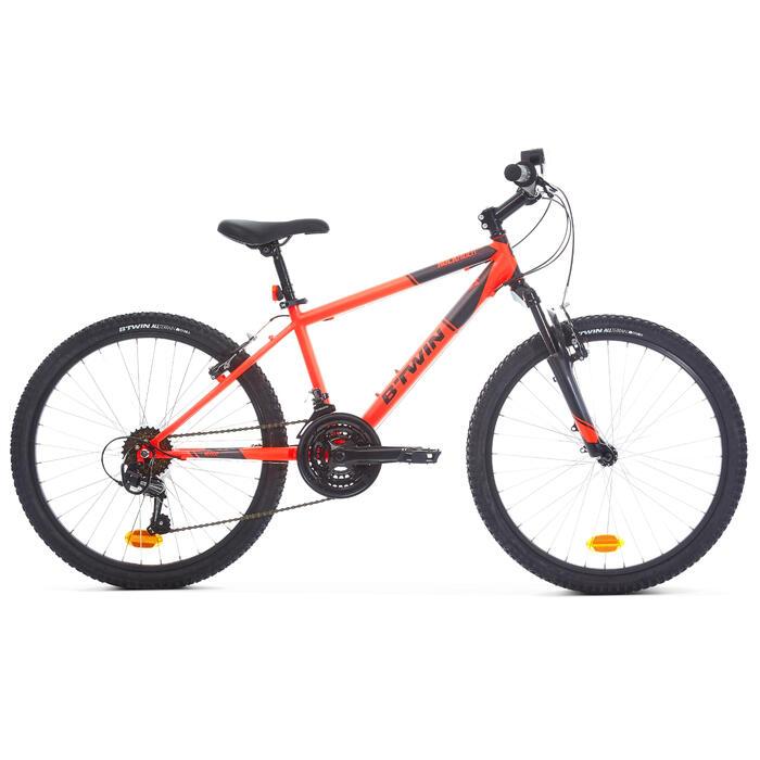 Kindermountainbike Rockrider 500 24 inch 8-12 jaar fluo-oranje