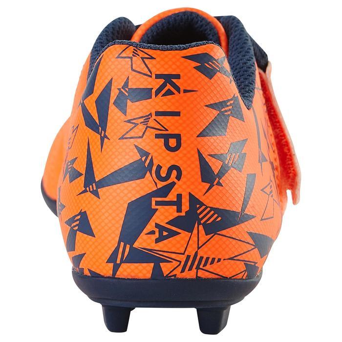 Chaussure de football enfant terrains secs Agility 300  FG à scratch bleue - 1179060