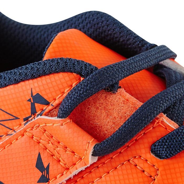 Chaussure de football enfant terrains secs Agility 300  FG à scratch bleue - 1179072