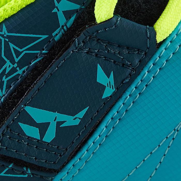Chaussure de football enfant terrains secs Agility 300  FG à scratch bleue - 1179073
