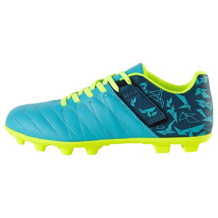 Chaussure de football enfant terrains secs Agility 300  FG à scratch bleue - 1179075