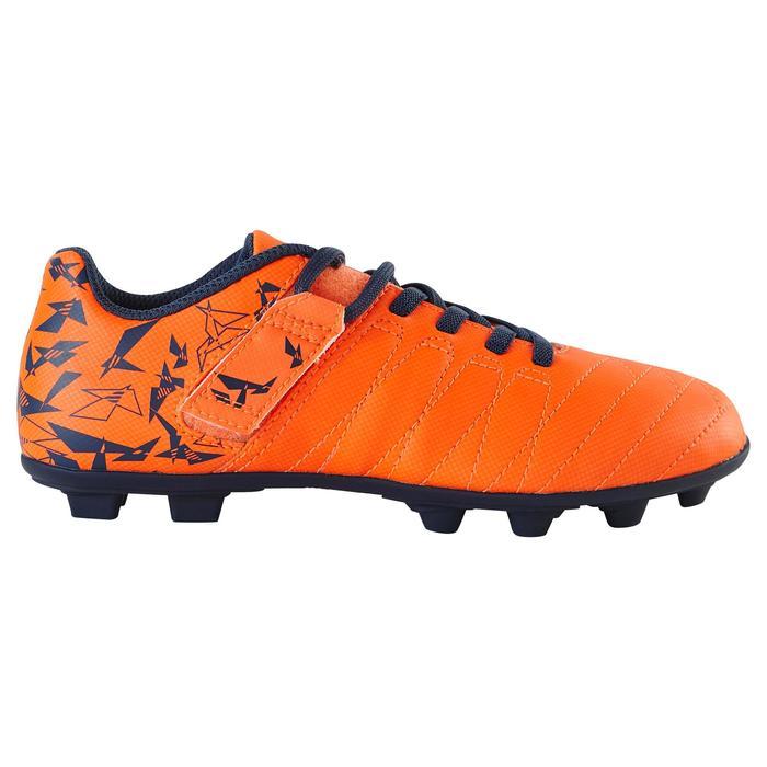 Chaussure de football enfant terrains secs Agility 300  FG à scratch bleue - 1179077