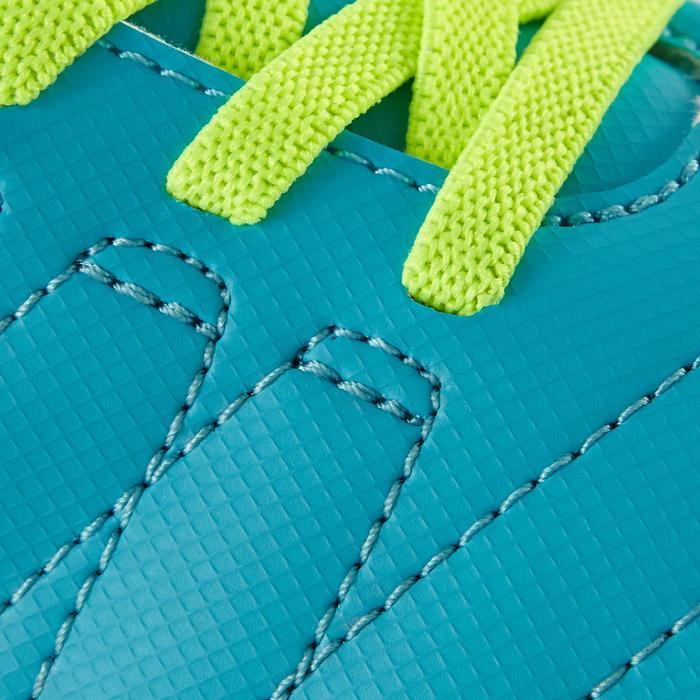 Chaussure de football enfant terrains secs Agility 300  FG à scratch bleue - 1179088