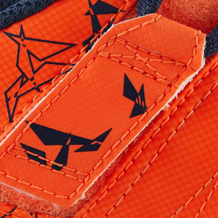 Chaussure de football enfant terrains secs Agility 300  FG à scratch bleue - 1179089