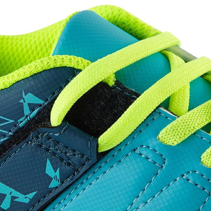 Chaussure de football enfant terrains secs Agility 300  FG à scratch bleue - 1179093