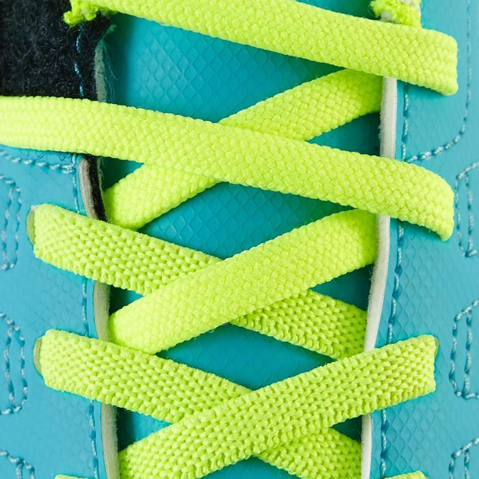 Chaussure de football enfant terrains secs Agility 300  FG à scratch bleue - 1179099