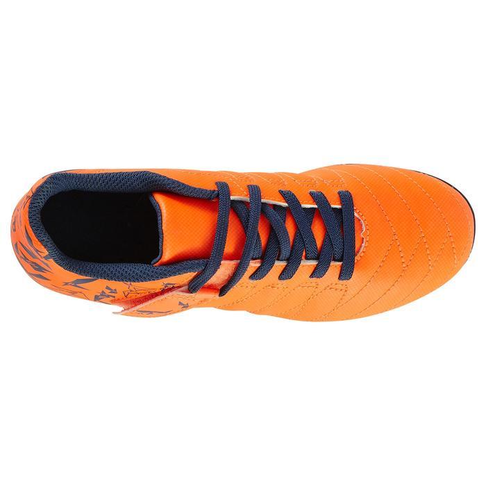 Chaussure de football enfant terrains secs Agility 300  FG à scratch bleue - 1179100