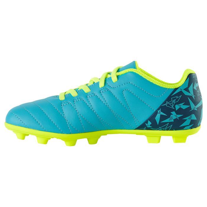 Chaussure de football enfant terrains secs Agility 300  FG à scratch bleue - 1179105