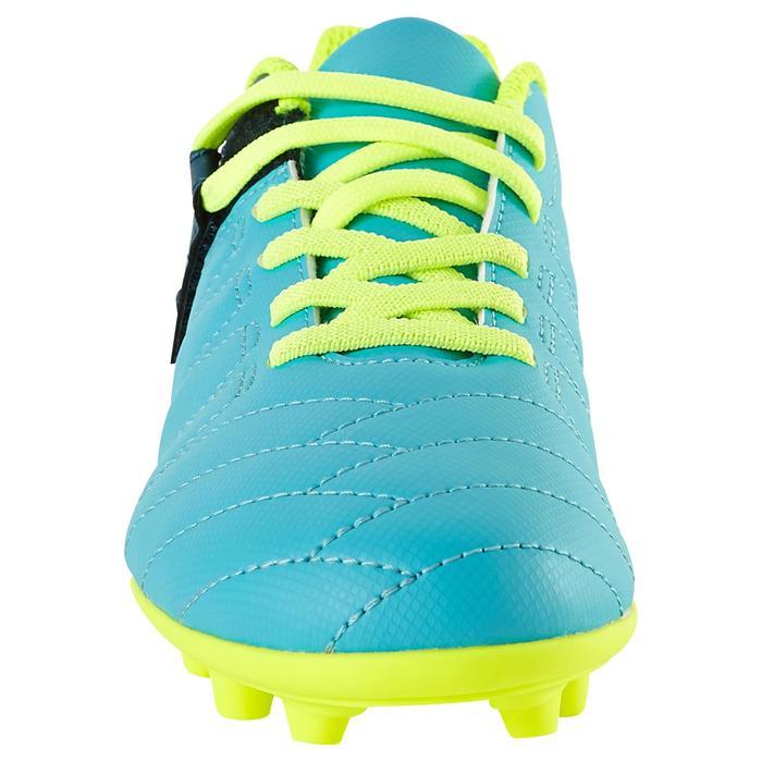 Chaussure de football enfant terrains secs Agility 300  FG à scratch bleue - 1179118
