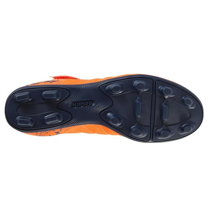 Chaussure de football enfant terrains secs Agility 300  FG à scratch bleue - 1179119
