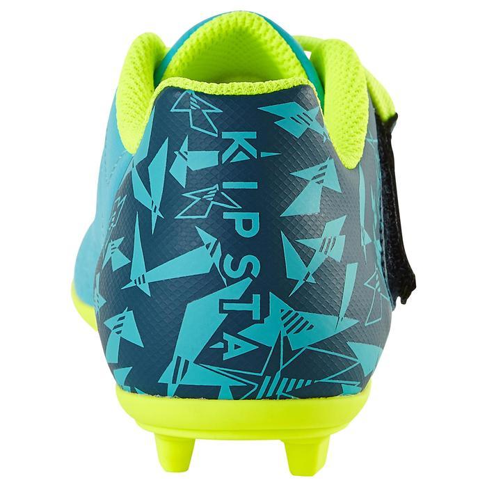 Chaussure de football enfant terrains secs Agility 300  FG à scratch bleue - 1179120