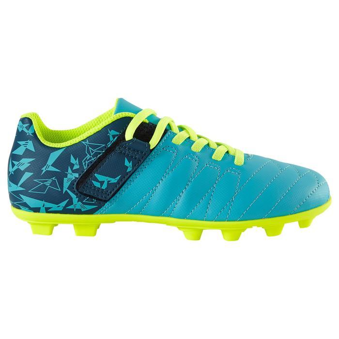 Chaussure de football enfant terrains secs Agility 300  FG à scratch bleue - 1179130
