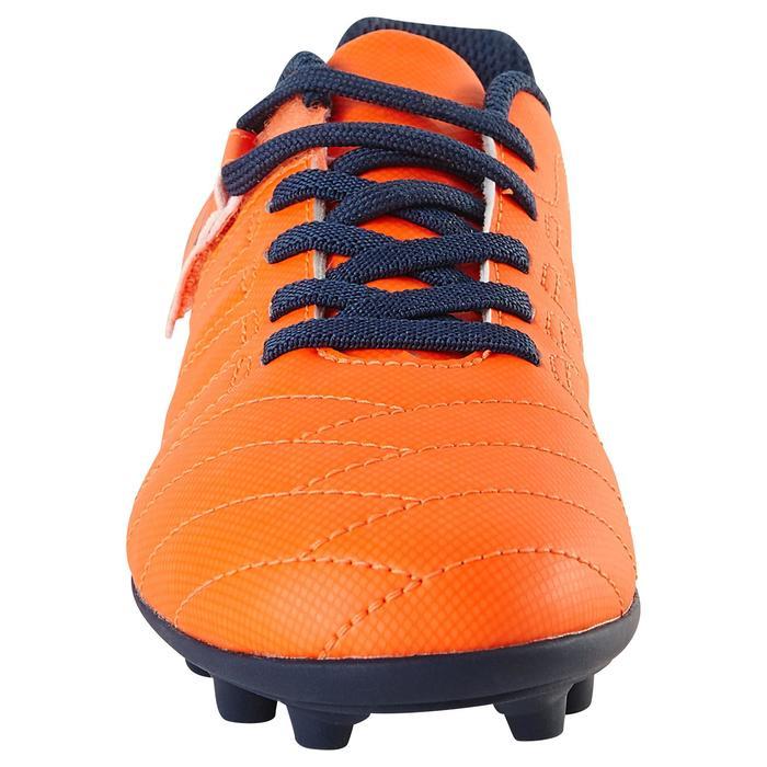 Chaussure de football enfant terrains secs Agility 300  FG à scratch bleue - 1179131