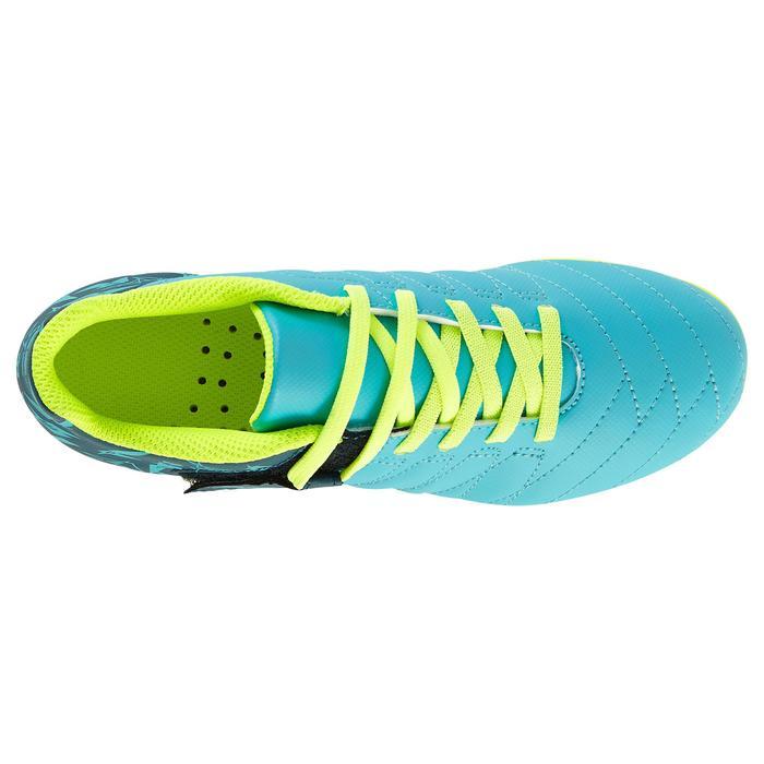 Chaussure de football enfant terrains secs Agility 300  FG à scratch bleue - 1179134