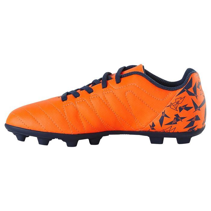 Chaussure de football enfant terrains secs Agility 300  FG à scratch bleue - 1179137