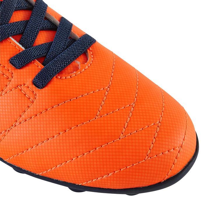 Chaussure de football enfant terrains secs Agility 300  FG à scratch bleue - 1179147