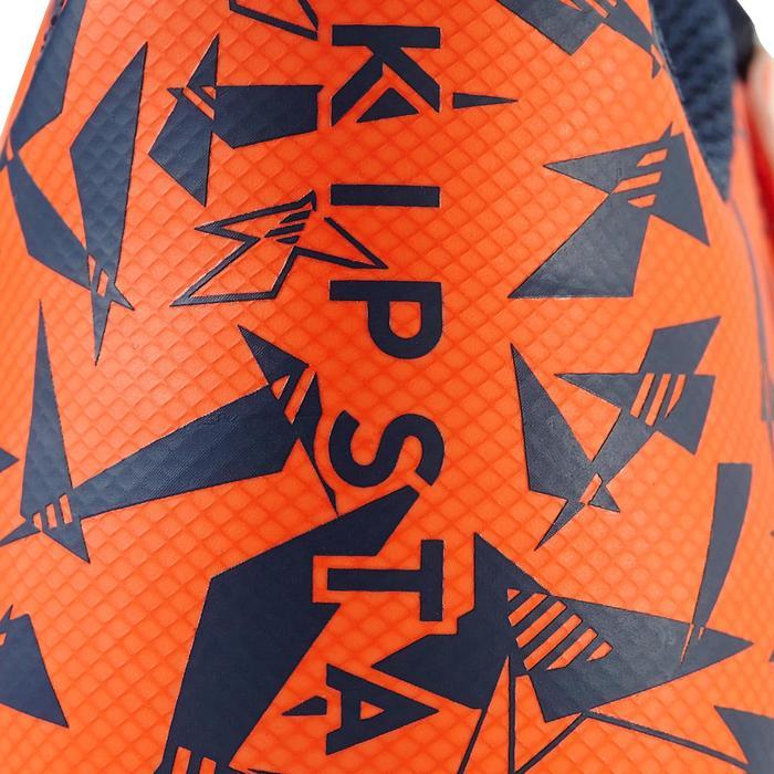 Chaussure de football enfant terrains secs Agility 300  FG à scratch bleue - 1179153