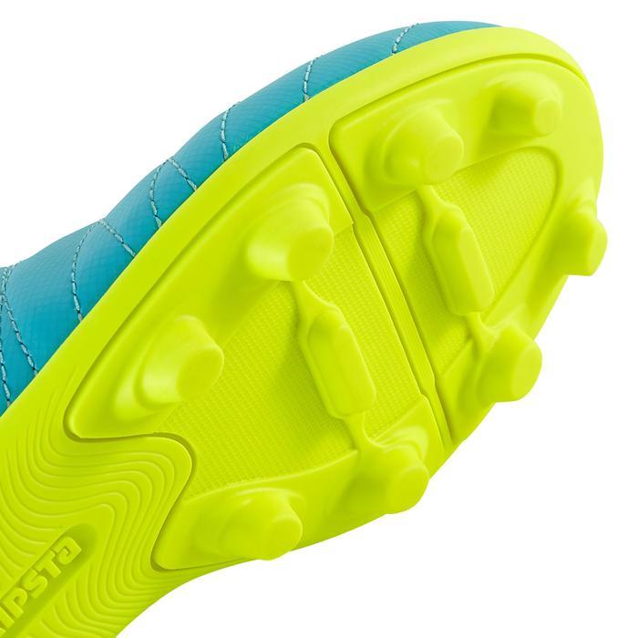 Chaussure de football enfant terrains secs Agility 300  FG à scratch bleue - 1179157