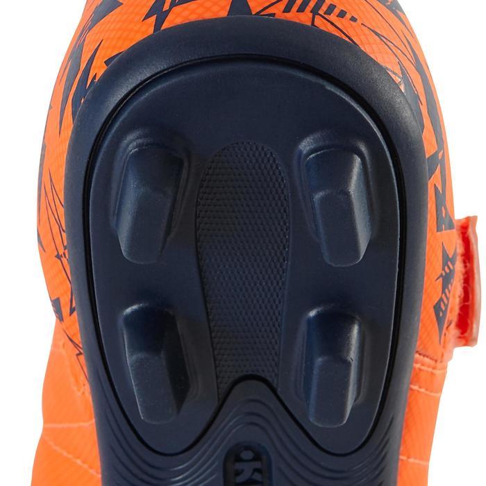 Chaussure de football enfant terrains secs Agility 300  FG à scratch bleue - 1179158