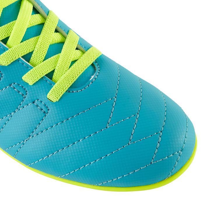 Botas fútbol niño terrenos secos Agility 300 FG tira autoadherente azul amarillo