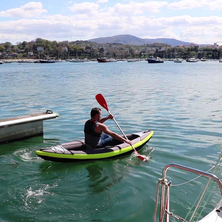 100 Four-Piece Split Kayak Paddle - Orange