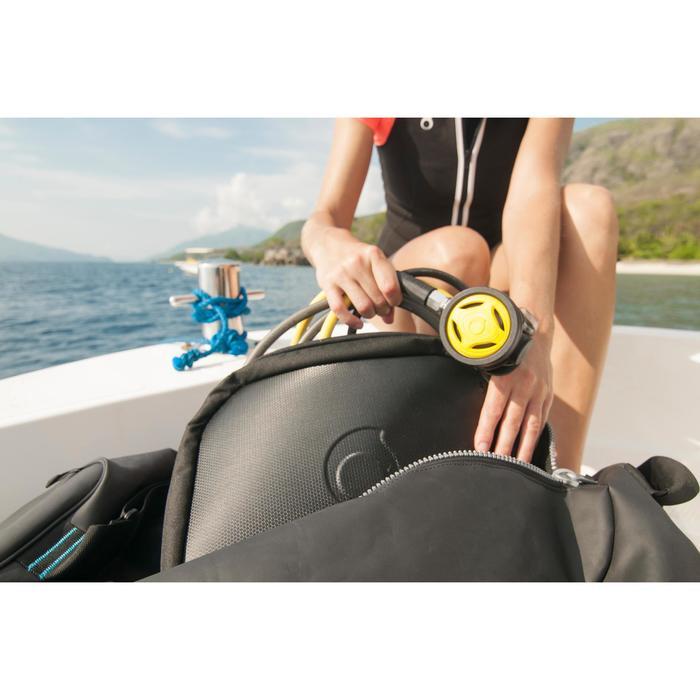 Etui voor ademautomaat voor diepzeeduiken zwart blauw