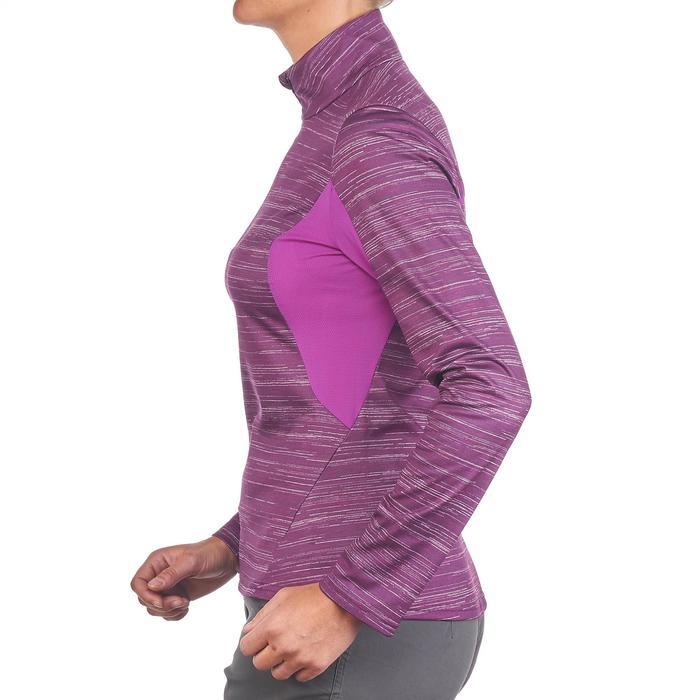 Tee-shirt de randonnée neige manches longues femme SH500 warm - 1179479