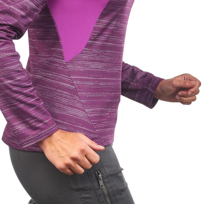Tee-shirt de randonnée neige manches longues femme SH500 warm - 1179485