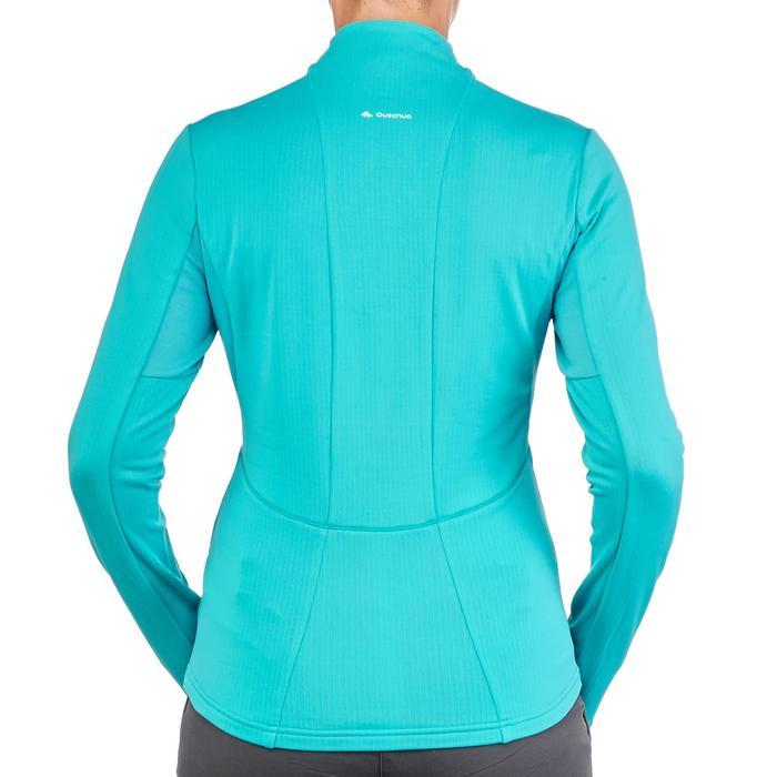 T-shirt lange mouwen wandelen in de sneeuw dames SH500 Active warm ceramic blue